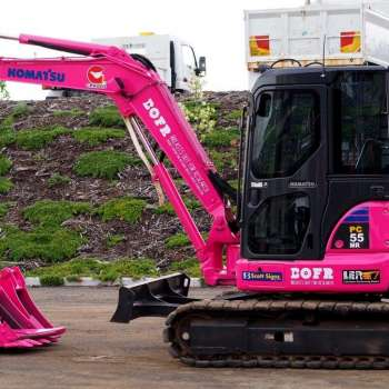 See 'Perky' our pink digger in action!